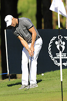Martin Kaymer (GER) chips onto the 3rd green during Saturday's Round 3 of the 2018 Turkish Airlines Open hosted by Regnum Carya Golf &amp; Spa Resort, Antalya, Turkey. 3rd November 2018.<br /> Picture: Eoin Clarke | Golffile<br /> <br /> <br /> All photos usage must carry mandatory copyright credit (&copy; Golffile | Eoin Clarke)
