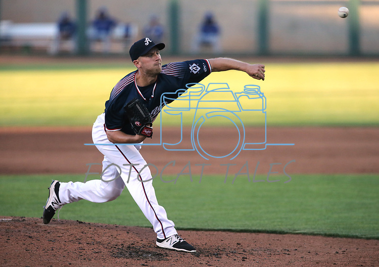 Reno Aces&rsquo; Eric Jokisch against the Las Vegas 51s in Reno, Nev. on Saturday, June 3, 2017. The 51s won 9-5.<br /> Photo by Cathleen Allison/Nevada Photo Source