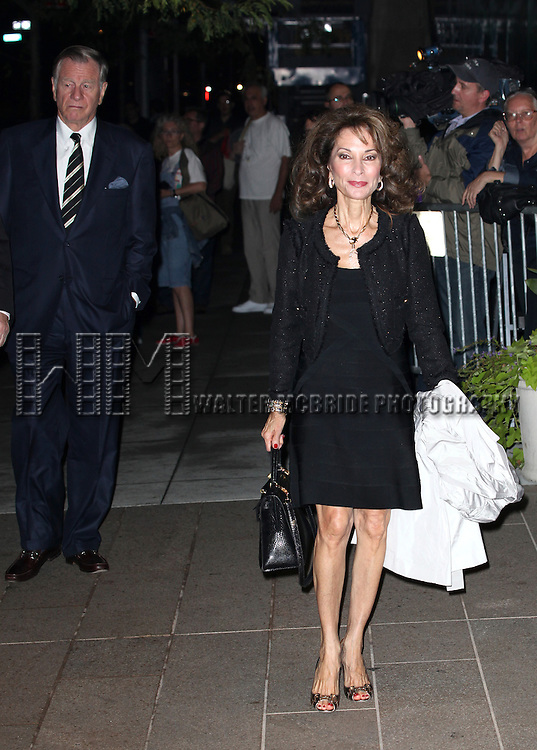 Susan Lucci & Husband Helmut Huber attending the Memorial To Honor Marvin Hamlisch at the Peter Jay Sharp Theater in New York City on 9/18/2012.