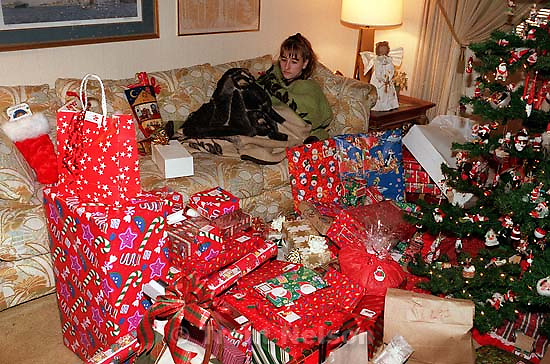 April Nelson on Christmas morning<br />