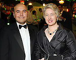 Terence O'Neill and Mayor Annise Parker at the Gala on the Green benefitting the Discovery Green Conservancy Saturday Feb. 27,2010. (Dave Rossman Photo)