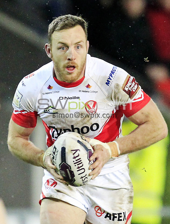 PICTURE BY CHRIS MANGNALL /SWPIX.COM...<br /> Rugby League - Super League - St Helens Saints v Castleford Tigers   - Langtree Park Stadium, , England  - 04/03/16<br /> St Helens  James Roby