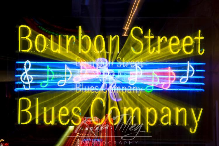 Louisiana, New Orleans, Bourbon Street Neon Sign