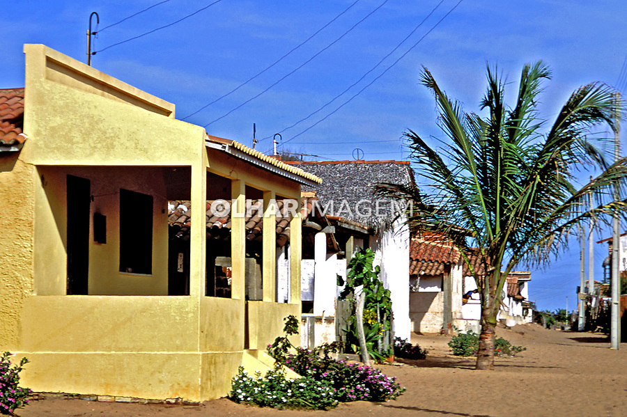 Casas de Canoa Quebrada. Ceará.1993. Foto de Juca Martins.