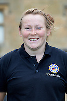 Caryl Thomas poses for a portrait at a Bath Rugby photocall. Bath Rugby Media Day on August 28, 2014 at Farleigh House in Bath, England. Photo by: Rogan Thomson for Onside Images