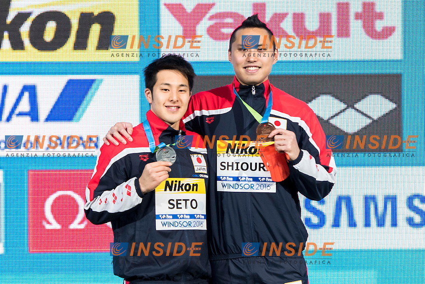SETO Daiya JPN Silver Medal<br /> SHIOURA Shinri JPN Bronze Medal<br /> Men's 100m Individual Medley<br /> 13th Fina World Swimming Championships 25m <br /> Windsor  Dec. 9th, 2016 - Day04 Finals<br /> WFCU Centre - Windsor Ontario Canada CAN <br /> 20161209 WFCU Centre - Windsor Ontario Canada CAN <br /> Photo &copy; Giorgio Scala/Deepbluemedia/Insidefoto