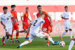 Yu Dabao of China (R) fights for the ball with Valeri Kichin of Kyrgyz Republic (L) during the AFC Asian Cup UAE 2019 Group C match between China (CHN) and Kyrgyz Republic (KGZ) at Khalifa Bin Zayed Stadium on 07 January 2019 in Al Ain, United Arab Emirates. Photo by Marcio Rodrigo Machado / Power Sport Images