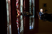 United States President Barack Obama talks with Chief of Staff Denis McDonough and Senior Advisor Dan Pfeiffer in the Oval Office, March 15, 2013. .Mandatory Credit: Pete Souza - White House via CNP