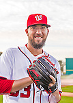 28 February 2016: Washington Nationals pitcher Rafael Martin poses for his Spring Training Photo-Day portrait at Space Coast Stadium in Viera, Florida. Mandatory Credit: Ed Wolfstein Photo *** RAW (NEF) Image File Available ***