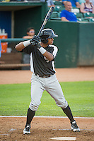 Elvin Paulino (11) of the Grand Junction Rockies at bat against the Ogden Raptors in Pioneer League action at Lindquist Field on July 6, 2015 in Ogden, Utah. Ogden defeated Grand Junction 8-7. (Stephen Smith/Four Seam Images)