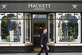Hackett shirtmaker and gentelmen's clothing store, Jermyn Street, St.James's, London.