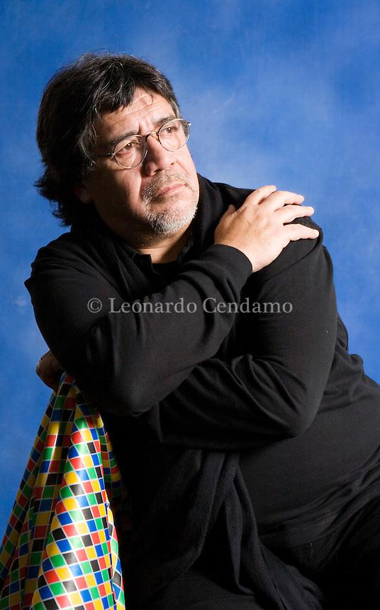 Milan, Italy, 2008. Luis Sepulveda, Chilean writer.