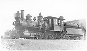 3/4 fireman's-side view of D&amp;RGW #278 at Gunnison.<br /> D&amp;RGW  Gunnison, CO  Taken by Perry, Otto C. - 5/8/1923