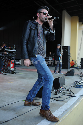 POMPANO BEACH FL - MAY 15: Justin Fox of Dishwalla performs at The Pompano Beach Amphitheater on May 15, 2016 in Pompano Beach, Florida. Credit: mpi04/MediaPunch