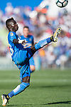 Amath Ndiaye Diedhiou of Getafe CF in action during the La Liga 2017-18 match between Getafe CF and Real Madrid at Coliseum Alfonso Perez on 14 October 2017 in Getafe, Spain. Photo by Diego Gonzalez / Power Sport Images