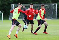 Marius Wolf (Eintracht Frankfurt), Marijan Cavar (Eintracht Frankfurt), Daichi Kamada (Eintracht Frankfurt) - 01.05.2018: Eintracht Frankfurt Training, Commerzbank Arena