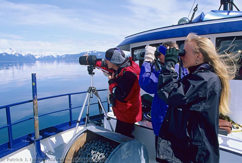 Bird observation aboard the Discovery, Prince William Sound, Alaska