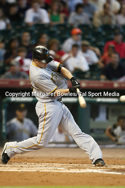 July 8, 2009:  Pittsburgh Pirates third baseman Andy LaRoche connects for a single. The Houston Astros defeated the Pittsburg Pirates 5-0 at Minute Maid Park in Houston, Texas. Margaret Bowles/CSM