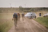 "Wout Van Aert (BEL/Veranda's Willems-Crelan) tries to cross the gap to the race leaders ahead<br /> <br /> Antwerp Port Epic 2018 (formerly ""Schaal Sels"")<br /> One Day Race:  Antwerp > Antwerp (207 km; of which 32km are cobbles & 30km is gravel/off-road!)"