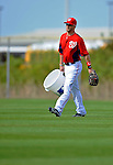 25 February 2012: Washington Nationals' outfielder Bryce Harper does ball duty during the first full squad Spring Training workout at the Carl Barger Baseball Complex in Viera, Florida. Mandatory Credit: Ed Wolfstein Photo