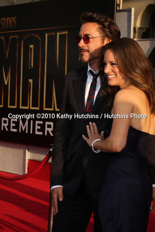 "Robert Downey Jr & Wife Susan Downey.arrives at  the ""Iron Man 2"" Premiere.El Capitan Theater.Los Angeles, CA.April 26, 2010.©2010 Kathy Hutchins / Hutchins Photo..."
