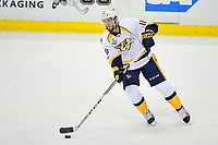 May 31, 2017: Nashville Predators center Colton Sissons (10) in game action during game two of the National Hockey League Stanley Cup Finals between the Nashville Predators  and the Pittsburgh Penguins, held at PPG Paints Arena, in Pittsburgh, PA. The Penguins defeat the Predators 4-1 and lead the series 2-0. Eric Canha/CSM