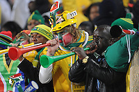 South African fans were united in their support of Bafana Bafana during pre-game festivities. Uruguay defeated South Africa, 2-0, in both teams' second match of play in Group A of the 2010 FIFA World Cup. The match was played at Loftus Versfeld in Pretoria, South Africa June 16th.