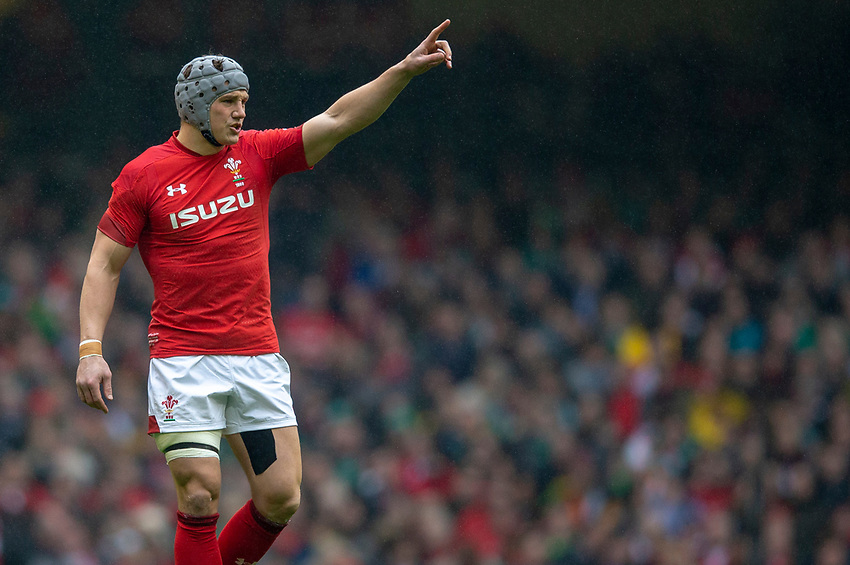 Wales' Jonathan Davies<br /> <br /> Photographer Bob Bradford/CameraSport<br /> <br /> Guinness Six Nations Championship - Wales v Ireland - Saturday 16th March 2019 - Principality Stadium - Cardiff<br /> <br /> World Copyright © 2019 CameraSport. All rights reserved. 43 Linden Ave. Countesthorpe. Leicester. England. LE8 5PG - Tel: +44 (0) 116 277 4147 - admin@camerasport.com - www.camerasport.com
