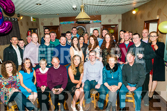 Engagement Party: Aisling Murphy, Cloghane & Pa McInerney, Tarbert celebrating their engagement and 30th birthdays together at the Swankey Bar, Tarbert with family & friends on Saturday night last.