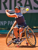 France, Paris, 04.06.2014. Tennis, French Open, Roland Garros, Yui Kamiji (JPN)<br /> Photo:Tennisimages/Henk Koster