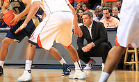 Virginia head coach Tony Bennett watches a play during an NCAA basketball game against Georgia Tech Thursday Jan. 22, 2015, in Charlottesville, Va. (Photo/Andrew Shurtleff)