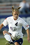 18 June 2004: Kylie Bivens before the game. The Atlanta Beat tied the New York Power 2-2 at the National Sports Center in Blaine, MN in Womens United Soccer Association soccer game featuring guest players from other teams.