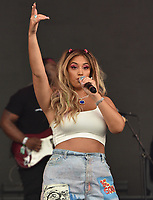 SAN FRANCISCO, CALIFORNIA - AUGUST 10: Alina Baraz performs onstage during the 2019 Outside Lands Music And Arts Festival at Golden Gate Park on August 10, 2019 in San Francisco, California. <br /> CAP/MPI/IS<br /> ©IS/MPI/Capital Pictures