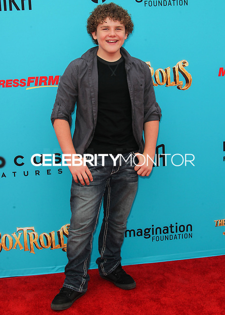 UNIVERSAL CITY, CA, USA - SEPTEMBER 21: Sean Ryan Fox arrives at the Los Angeles Premiere Of Focus Features' 'The Boxtrolls' held at Universal CityWalk on September 21, 2014 in Universal City, California, United States. (Photo by Celebrity Monitor)
