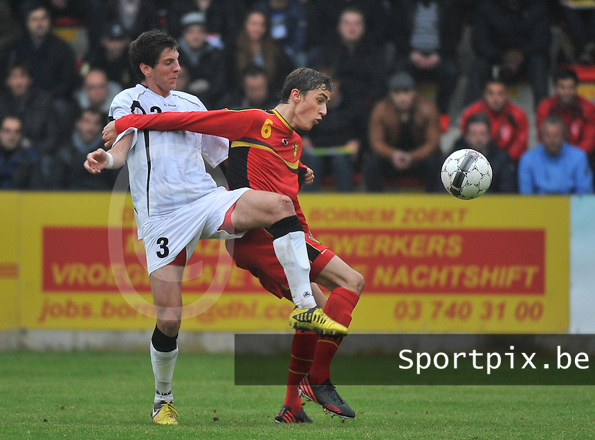 Georgia U19 - Belgium U19 : Lasha Dvali (3) and Julien De Sart (6)<br /> foto DAVID CATRY / Nikonpro.be