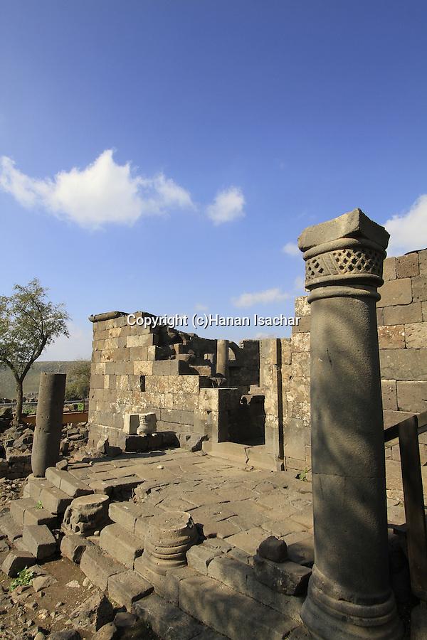 Golan Heights, Umm el Kanatir ancient Synagogue