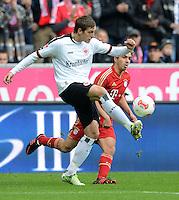 FUSSBALL   1. BUNDESLIGA  SAISON 2012/2013   11. Spieltag FC Bayern Muenchen - Eintracht Frankfurt    10.11.2012 Bastian Oczipka (li, Eintracht Frankfurt) gegen Philipp Lahm (FC Bayern Muenchen)