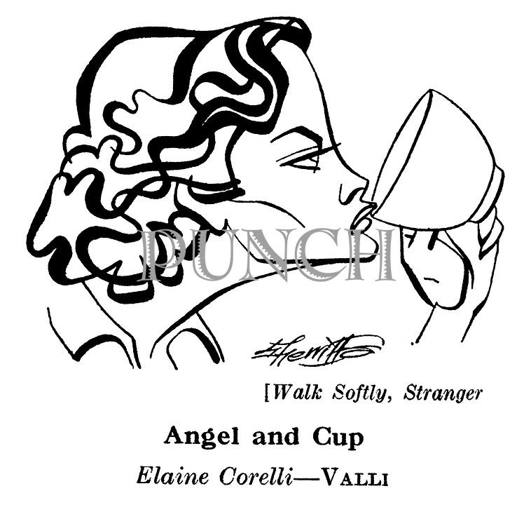 Punch cartoons by Robert Sherriffs..Film Review ; ..Walk Softly , Stranger ; Valli..