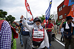 JUNE 28, 2019 - People march during a protest near the site of the G20 Summit in Osaka, Japan. (Photo by Ben Weller/AFLO) (JAPAN) [UHU]
