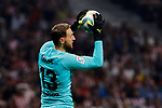 Jan Oblak of Atletico de Madrid during La Liga match between Atletico de Madrid and Real Madrid at Wanda Metropolitano Stadium in Madrid, Spain. September 28, 2019. (ALTERPHOTOS/A. Perez Meca)