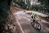 Fumiyuki BEPPU (JAP/Trek-Segafredo) during a full effort ascent<br /> <br /> Team Trek-Segafredo men's team<br /> training camp<br /> Mallorca, january 2019<br /> <br /> &copy;kramon