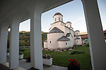 Morning, church of the Ascension of Jesus Christ at the Monastery Mileševa, Serbia originally built in the 12th century.