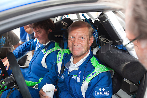 JYVASKYLA, FINLAND - JULY 31: Juha Kankkunen of Finland pictured on the service area in the WRC Rally Finland on July 31, 2010 in Jyvaskyla, Finland.