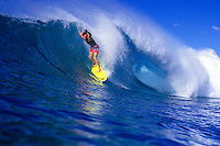 Bobby Owens hitting the waves off of Sunset Beach, North Shore
