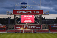 Bridgeview, IL - Saturday July 23, 2016: Toyota Park, weather prior to a regular season National Women's Soccer League (NWSL) match between the Chicago Red Stars and the Houston Dash at Toyota Park.