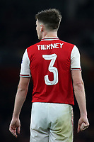 Kieran Tierney of Arsenal during Arsenal vs Standard Liege, UEFA Europa League Football at the Emirates Stadium on 3rd October 2019