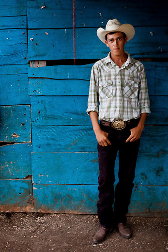 A Mayan Biosphere cowboy, many youth have grown up in the reserve and see it as their land.