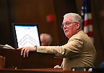 Nevada Assembly Speaker John Hambrick, R-Las Vegas, works on the Assembly floor at the Legislative Building in Carson City, Nev., on Wednesday, May 13, 2015.<br /> Photo by Cathleen Allison