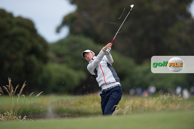 Chris Wood (ENG) during the final round at the ISPS Handa World Cup of Golf, from Kingston heath Golf Club, Melbourne Australia. 27/11/2016<br /> Picture: Golffile | Anthony Powter<br /> <br /> <br /> All photo usage must carry mandatory copyright credit (&copy; Golffile | Anthony Powter)