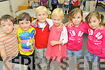 Pictured at their first day of school at Cahair National school Kenmare are three sets of twins , Danny and Frankie O'Shea, David and Aoibheann O'Connor, Gabriella and Maria Murnane.